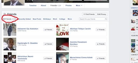Friends On Facebook