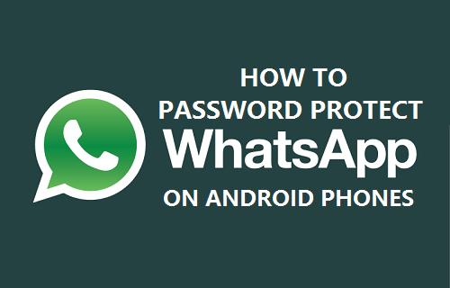 Password Protect WhatsApp