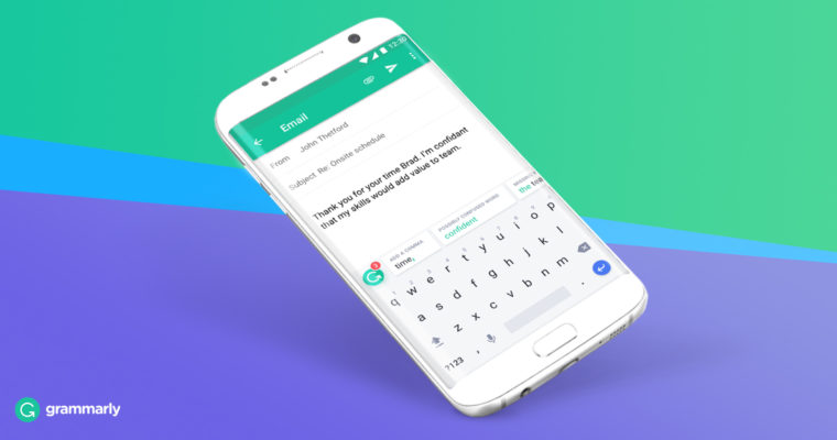 Grammarly Keyboard App with Grammar Checker