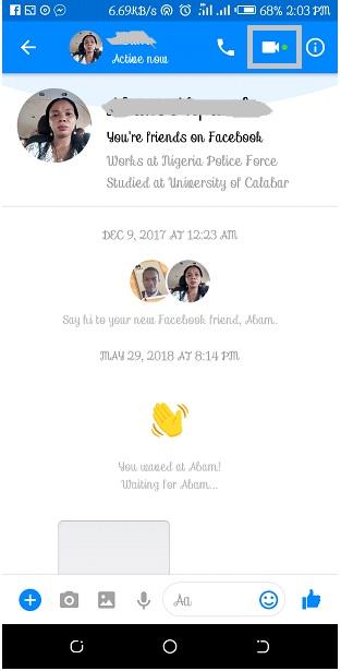 Make Video Call on Facebook Messenger Lite
