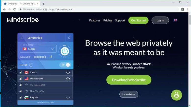 Review Windscribe VPN