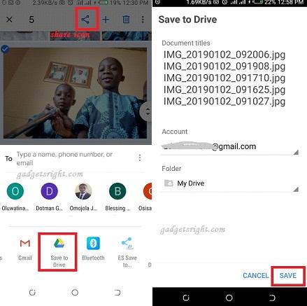 Upload photos to Google drive