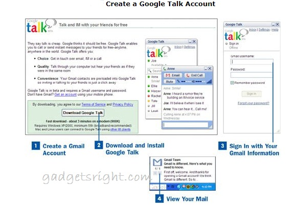 Create A Google Talk Account