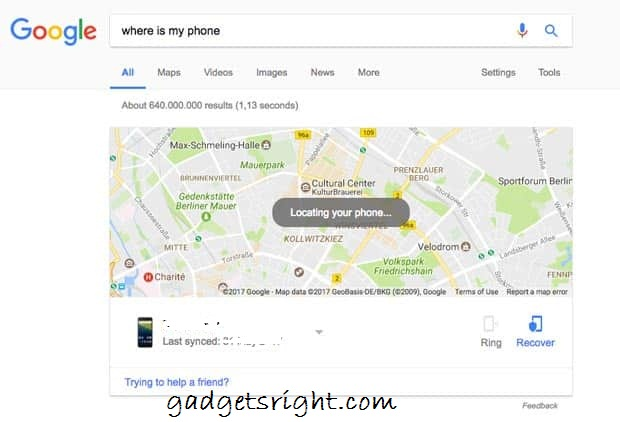 google-find-my-phone RING
