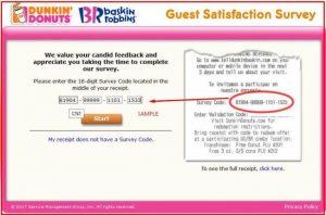 Telldunkin baskin: Official Survey Program by Baskin Robbins