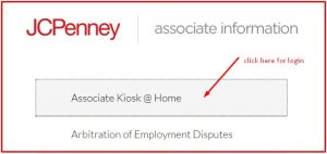 Work Schedule on the JCPenney Associate Kiosk Website