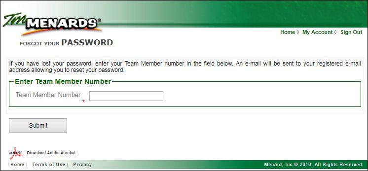 TMMenards Login Access for Menards TM Employees