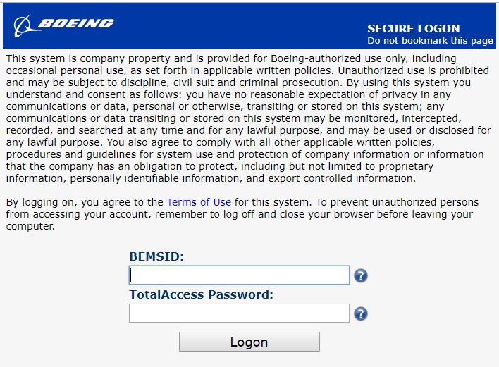 Total Access Express   Boeing Total Access Express Login Guide