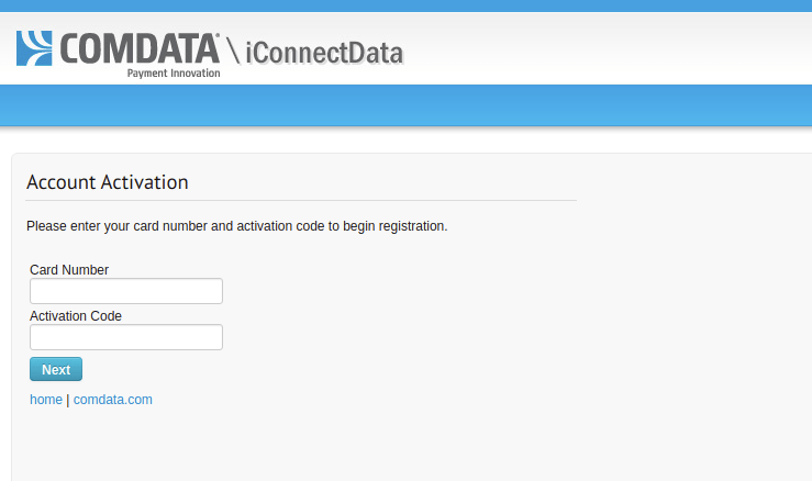 Register and Login into your Comdata Card Account