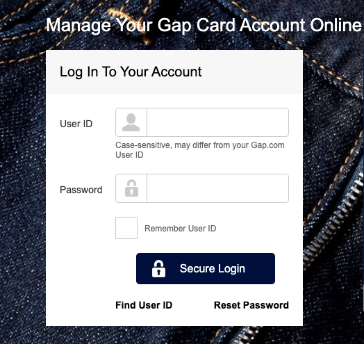 GAPCredit Card Login|Step by Step Guide Process