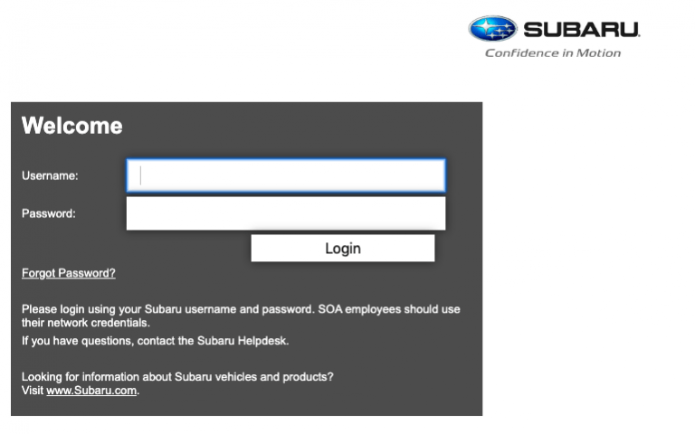 Login at subarun