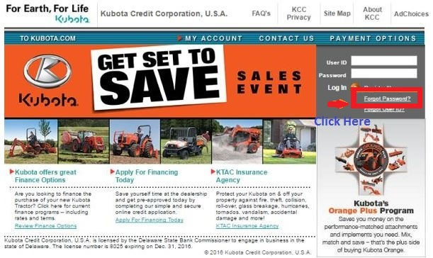Kubota CreditPayment, Login and Customer Service Information