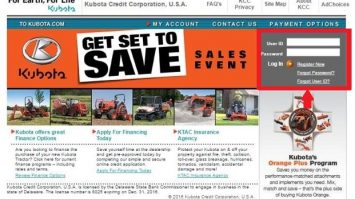 Kubota Credit Payment, Login and Customer Service Information