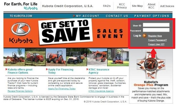 Kubota Credit Payment, Login and Customer Service Information