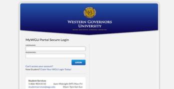 Western Governors University Login   WGU Portal