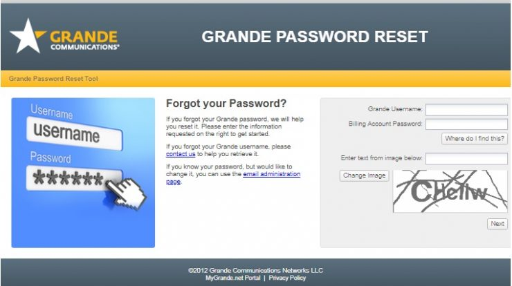 Grande Communications Login Procedure, Complete Step Guide