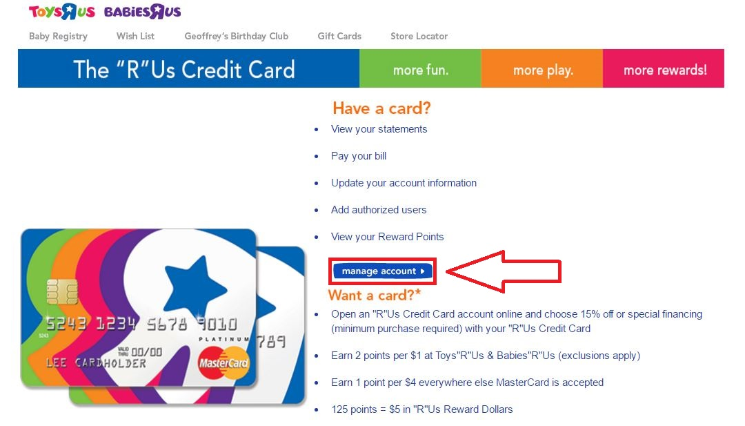 Toys R Us Credit Card Payment, Login, and Customer Service Information