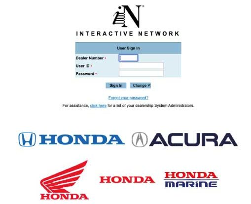 Honda Interactive Login Complete Guide at in.honda.com