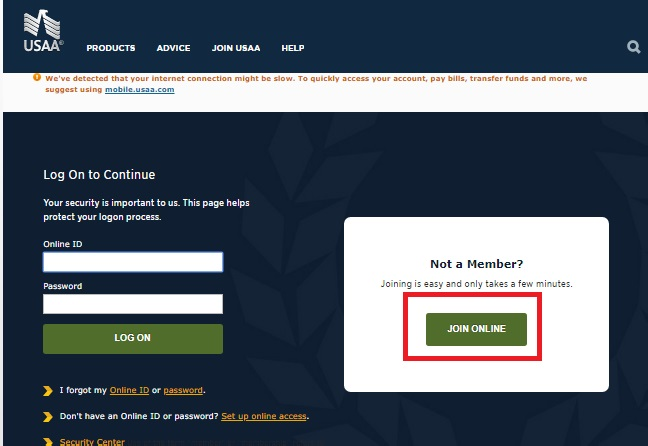 USAA Insurance Online Login