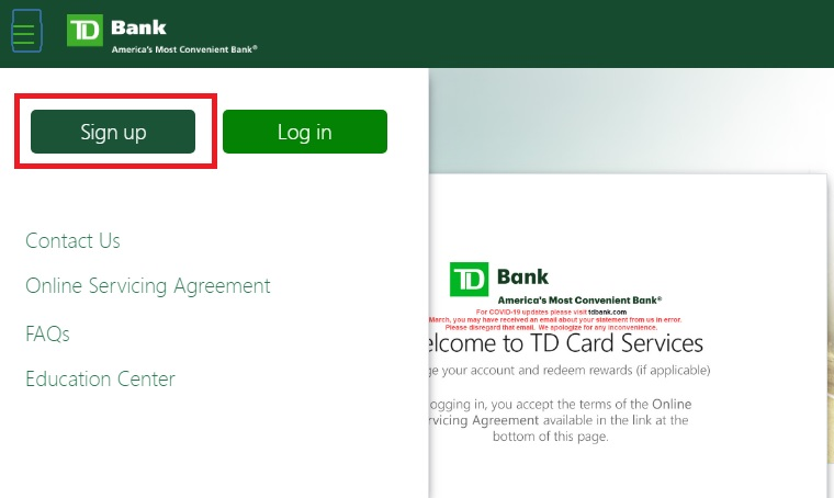 TD Card Services Login, Pay Bill & Cash Back @ tdcardservices.com
