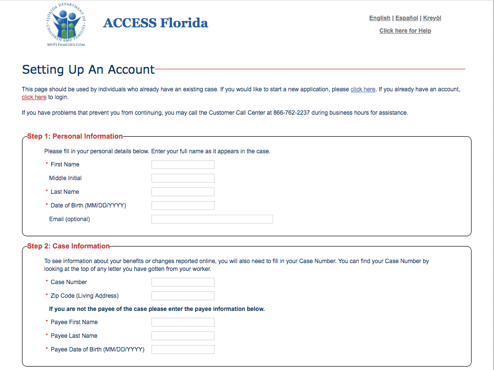 MyAccess Florida Account Login @ MyAccessFlorida