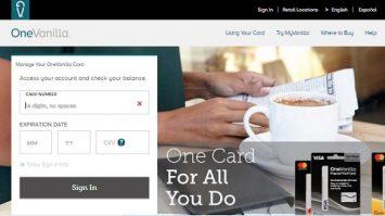 One Vanilla Login |Use MyVanilla Visa Gift Card