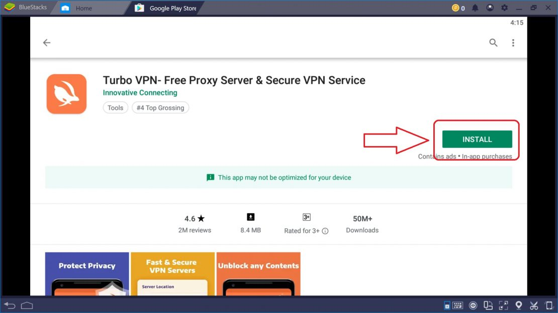 Download and Install TurboVPN