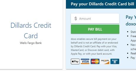 Dillard's Credit Card Sign-Up, Login