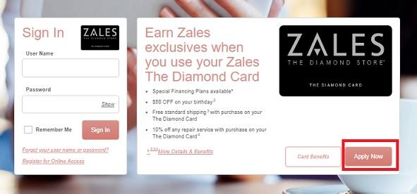 Zales Credit Card Registration, Login Guide