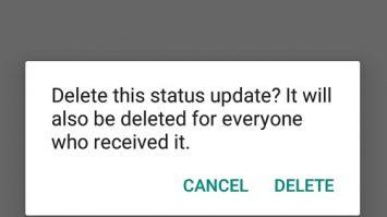 Delete WhatsApp Status on your Devices