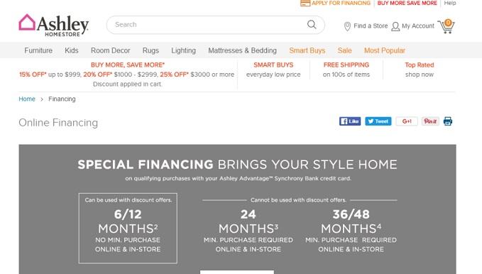 Ashley Furniture Credit Card Payment, Login & Customer Service Information