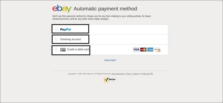 eBay CreditCard Application Process
