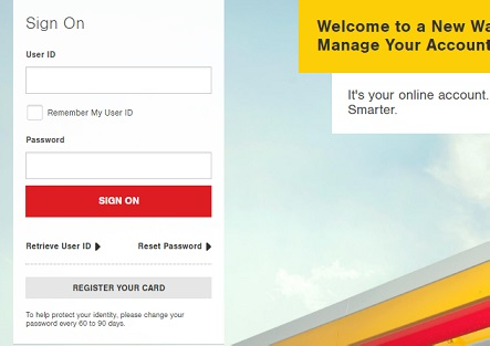 Shell Credit Card Login