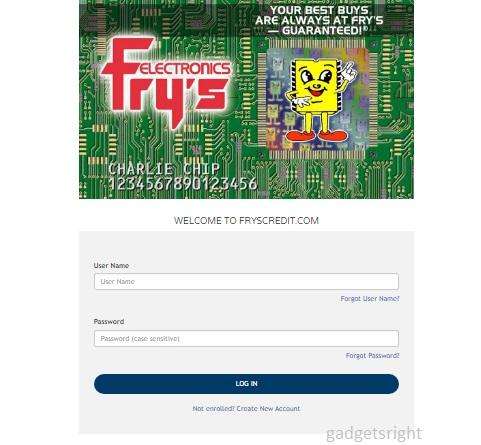Frys Credit Card Login Guide