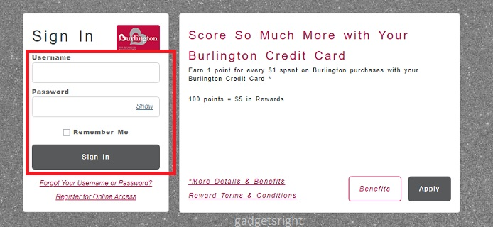 Burlington Card