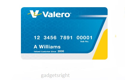 Valero Gas Credit Card Login
