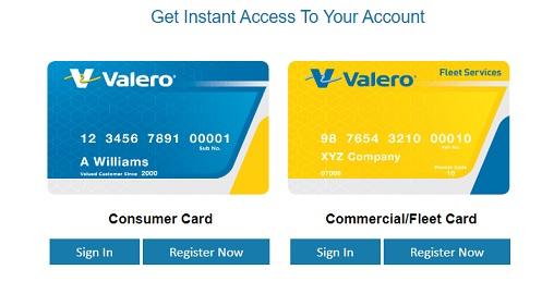 Valero Credit Card Login