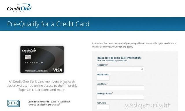 CreditOneBank Online Banking Login