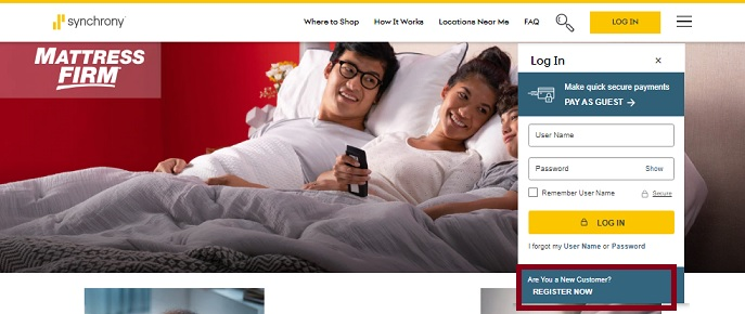 Mattress Firm CreditCard Application & Payment