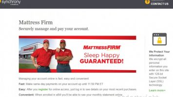 Mattress Firm Credit Card Application & Payment