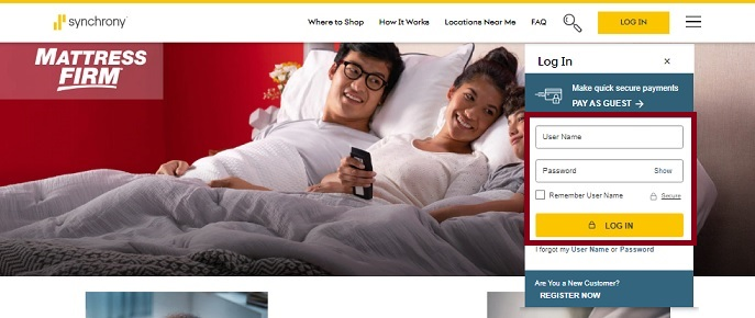 Mattress Firm CreditCard Application
