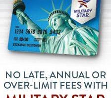 Military Star Credit Card