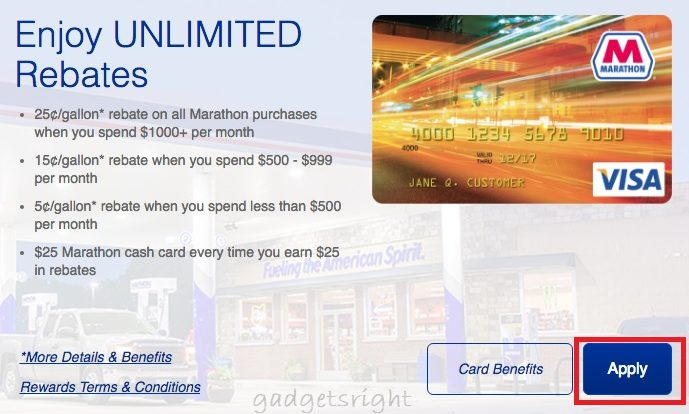 Marathon Credit Card Login and Payment