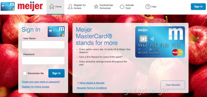 Meijer MasterCard Login and Payment