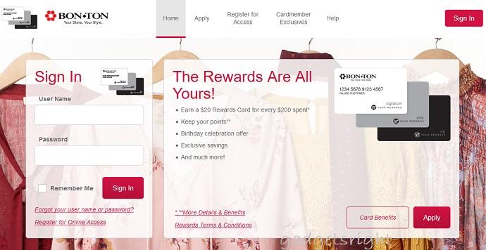Bon-Ton Credit Card Login and Payment