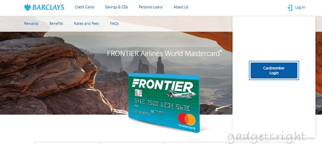 Frontier Airlines World Master Card