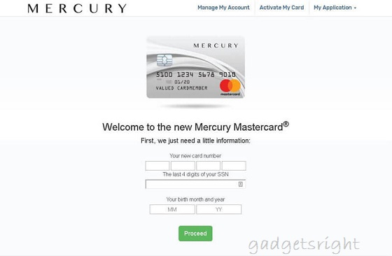Mercury MasterCard Login, Benefits and Payment