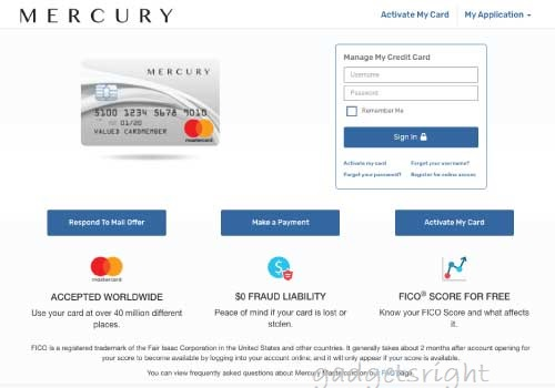 Mercury Card Login, Benefits and Payment