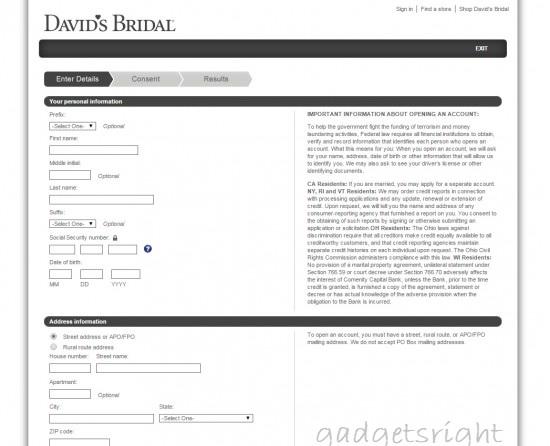 Davids Bridal Credit Card Login Payment