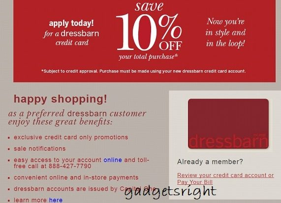 Are DressBarn Credit Card Still Good